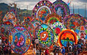 In Sacatepequez in Guatemala, kites made by Mayan descendants are flown in honor of La Día de los Muertos. (Photo courtesy of Alessandra García)