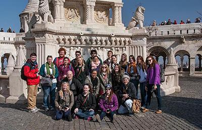 Stevenson University students last year shown studying abroad in Eastern Europe. Photo from Stevenson University website.
