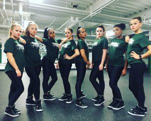 The Stevenson University Dance Team looking fierce at practice (Photo by Kelsey King)