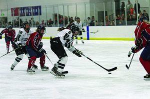 Women's Ice Hockey playing against Liberty last season (photo by Sabina Moran)